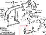 Стойка кузова левая Toyota Land Cruiser Prado 150 за 35 000 тг. в Костанай – фото 3