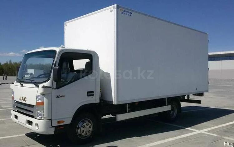 JAC  Фургон промтоварный на шасси JAC-N56 (европромка) 2021 года за 12 300 000 тг. в Атырау