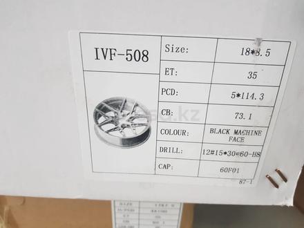 Комплект дисков 18 5 114.3 ET 35 за 250 000 тг. в Нур-Султан (Астана) – фото 3