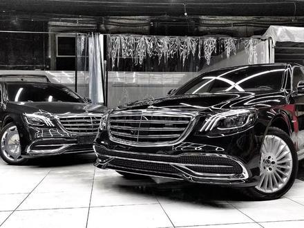 Полный рестайлинг Mercedes-Benz w222 Maybach 2018 + за 5 500 тг. в Алматы
