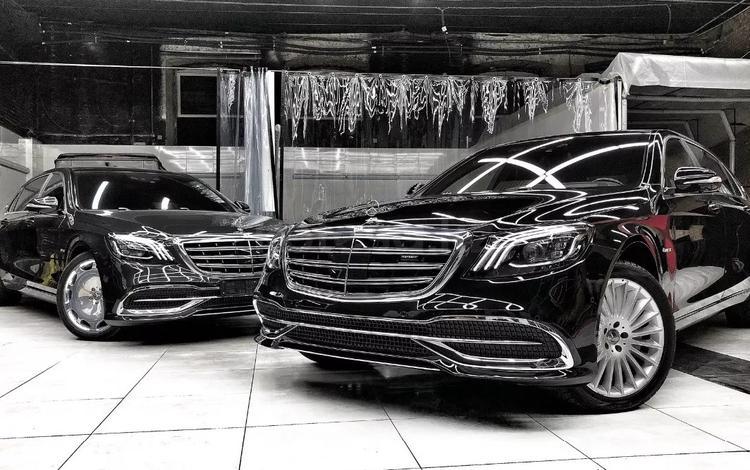 Полный рестайлинг Mercedes-Benz w222 Maybach 2018 + за 2 100 000 тг. в Алматы