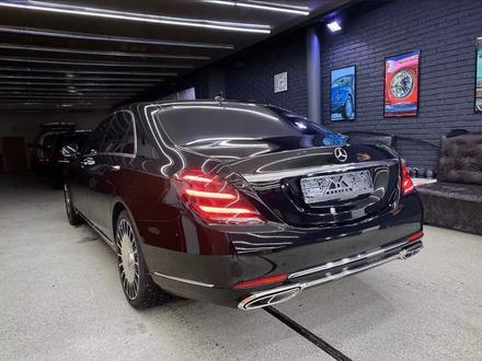 Полный рестайлинг Mercedes-Benz w222 Maybach 2018 + за 5 500 тг. в Алматы – фото 5