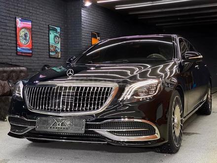 Полный рестайлинг Mercedes-Benz w222 Maybach 2018 + за 5 500 тг. в Алматы – фото 3
