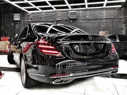Полный рестайлинг Mercedes-Benz w222 Maybach 2018 + за 5 500 тг. в Алматы – фото 6