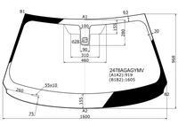 Стекло лобовое + дд в клей BMW x6 f16 15-19 за 106 800 тг. в Алматы