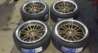 R18 диски 5 114.3, 9.5J, с шинами 225 40r18 Farroad за 360 000 тг. в Алматы