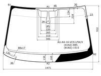Стекло лобовое + дд в клей AUDI a4 4/5d 16- за 27 400 тг. в Алматы