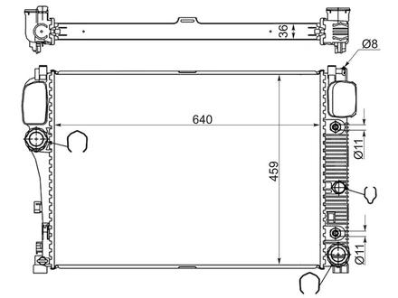 Радиатор Mercedes S-Class w221/CL-Class w216 06- за 39 850 тг. в Алматы