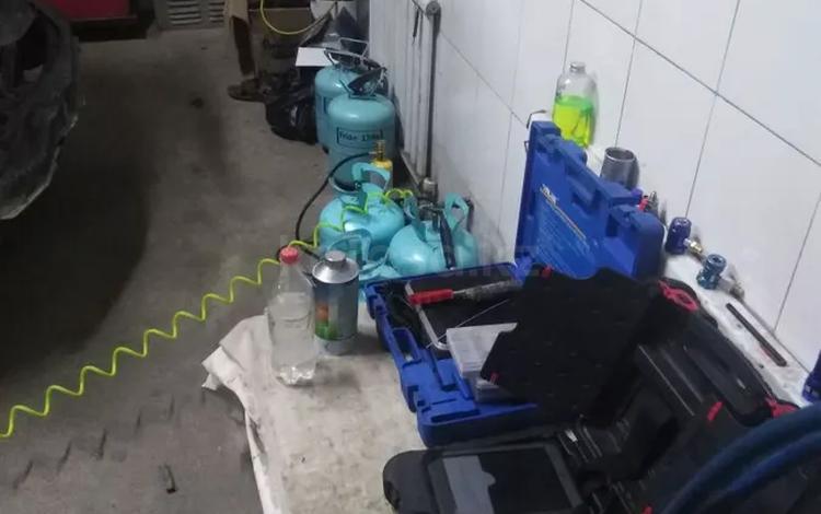 Заправка ремонт автокондиционера любое сложности в Алматы