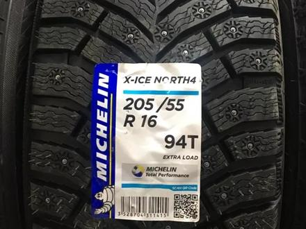 Зимние шины 205/55/r16 Michelin xice North 4 шип Новинка! за 39 000 тг. в Нур-Султан (Астана)