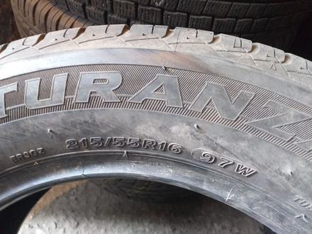 215/55R16 Bridgestone TURANZA ER300 за 25 000 тг. в Алматы – фото 7