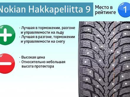 Nokian Hakkapeliitta 9 SUV - зимние шипованные шины за 600 000 тг. в Алматы – фото 2