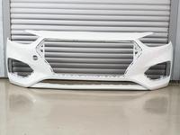 Бампер передний белый Hyundai Accent 2016-2020 за 30 000 тг. в Шымкент