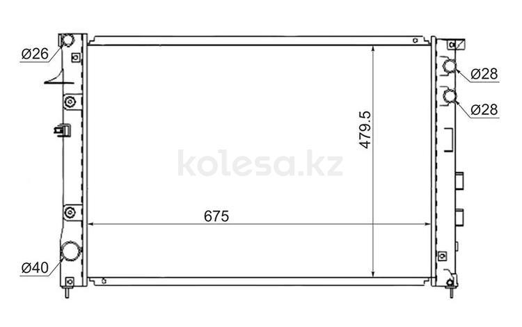 Радиатор Subaru Tribeca 3.0-3.6 05- за 36 900 тг. в Алматы
