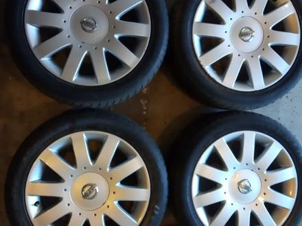 Диски литые 7jj 17 ЦО 66, 1 ЕТ45 5*114, 3 с резиной Dunlop SP Sport 215/50 за 160 000 тг. в Рудный