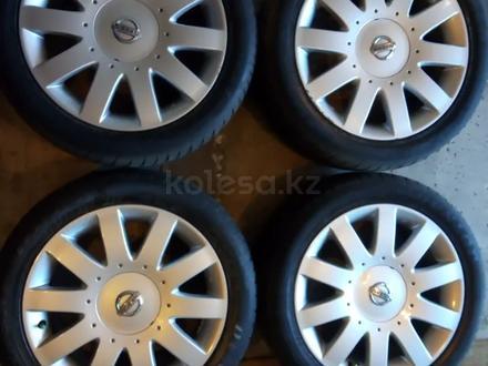 Диски литые 7jj 17 ЦО 66, 1 ЕТ45 5*114, 3 с резиной Dunlop SP Sport 215/50 за 160 000 тг. в Рудный – фото 2