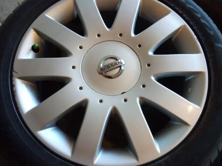 Диски литые 7jj 17 ЦО 66, 1 ЕТ45 5*114, 3 с резиной Dunlop SP Sport 215/50 за 160 000 тг. в Рудный – фото 3