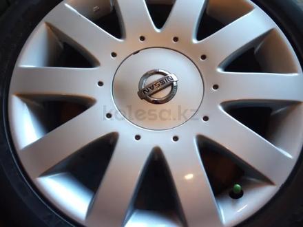 Диски литые 7jj 17 ЦО 66, 1 ЕТ45 5*114, 3 с резиной Dunlop SP Sport 215/50 за 160 000 тг. в Рудный – фото 5