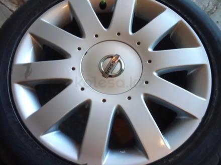 Диски литые 7jj 17 ЦО 66, 1 ЕТ45 5*114, 3 с резиной Dunlop SP Sport 215/50 за 160 000 тг. в Рудный – фото 6