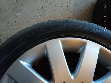 Диски литые 7jj 17 ЦО 66, 1 ЕТ45 5*114, 3 с резиной Dunlop SP Sport 215/50 за 160 000 тг. в Рудный – фото 8