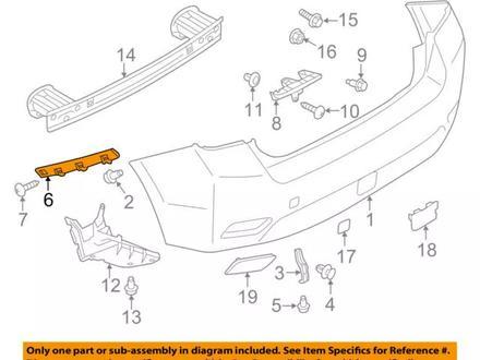 Крепление заднего бампера правое Subaru Impreza XV, GP7 12- за 4 850 тг. в Алматы – фото 2