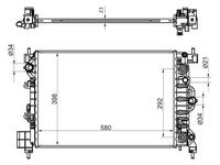 Радиатор Chevrolet AVEO 1.6 11- OPEL Mokka 12- за 19 900 тг. в Алматы