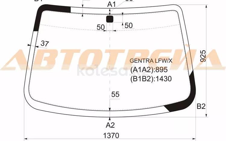 Стекло лобовое в клей Chevrolet Aveo II Производство Россия за 15 000 тг. в Атырау