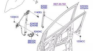 Стекло передней правой двери Hyundai Grand Starex за 25 000 тг. в Алматы