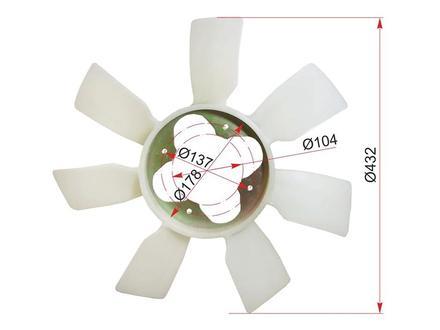 Крыльчатка вентилятора на TOYOTA LAND CRUISER PRADO 90 96-02 за 11 000 тг. в Нур-Султан (Астана)