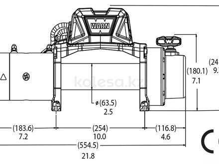 Лебедка warn 12000 lbs 5443 кг за 250 800 тг. в Алматы – фото 4