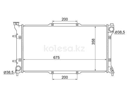 Радиатор Subaru Legacy 1.8/2.0/2.2 93-98 за 21 750 тг. в Алматы
