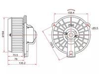 Мотор отопителя салона Honda CR-V RD5 01-06 (LHD) за 13 300 тг. в Алматы
