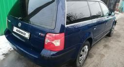 Volkswagen Passat 2002 года за 1 850 000 тг. в Алматы – фото 3