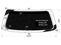 Стекло заднее (крышка багажника) затемненное с обогревом в клей Toyota за 26 100 тг. в Алматы