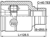 ШРУС внутренний правый Volkswagen Tiguan (07-18) (40x34x46.9) за 22 000 тг. в Алматы – фото 4