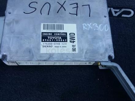 Компьютер блок управления двигателем Lexus RX300 89661-48062 за 35 000 тг. в Семей