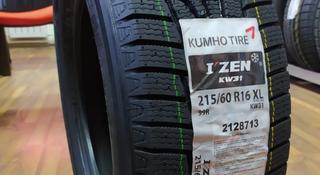 215/60R16 KUMHO Izen KW31 КОРЕЯ 2020 за 23 000 тг. в Алматы